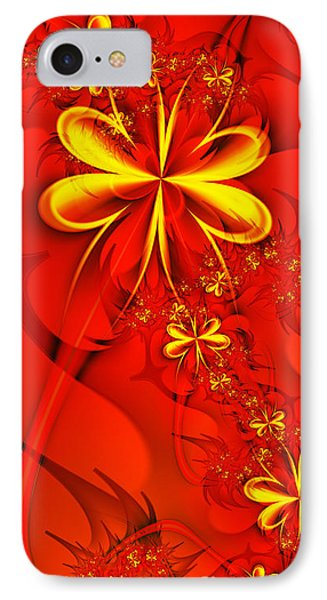 Gold Flowers IPhone Case