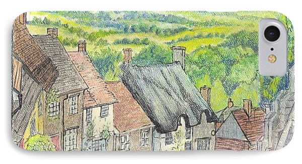 Gold Hill Shaftesbury Dorset England Phone Case by Carol Wisniewski