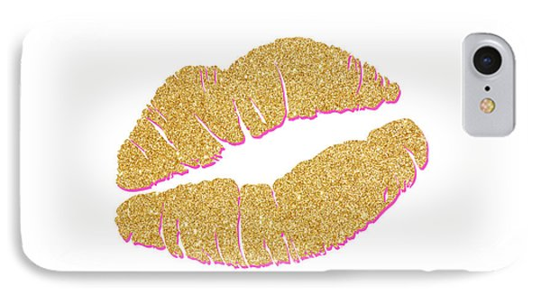 Gold Kiss IPhone Case by South Social Studio