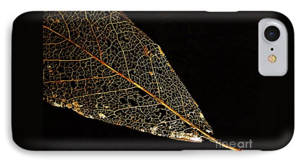 IPhone Case featuring the photograph Gold Leaf by Ann Horn