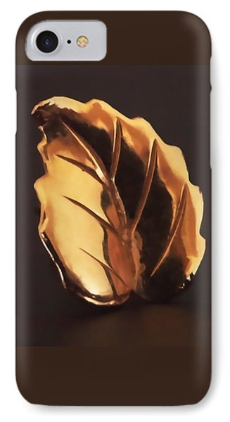 Gold Leaf Phone Case by Rona Black