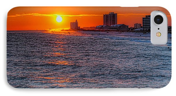 Gold Over The Beach IPhone Case by Tim Stanley