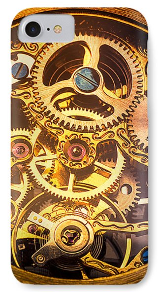 Gold Pocket Watch Gears IPhone Case by Garry Gay