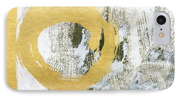 Gold Rush - Abstract Art IPhone Case by Linda Woods