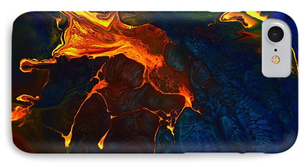 Gold Signature - Gold Orange Abstract Art By Kredart IPhone Case by Serg Wiaderny