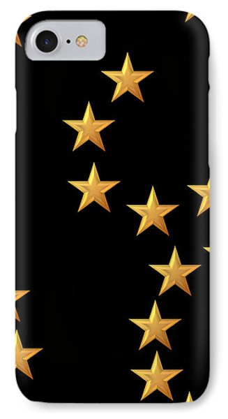 Gold Stars Abstract Triptych Part 2 Phone Case by Rose Santuci-Sofranko