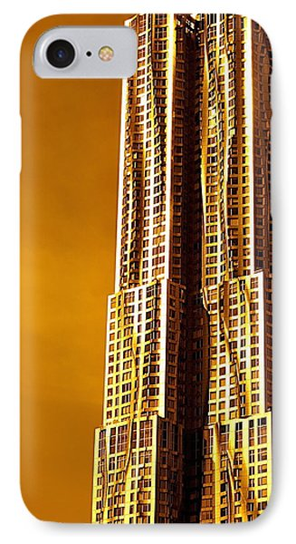 Gold Tower Ny IPhone Case
