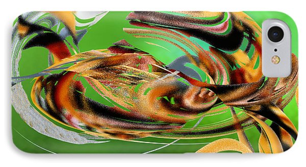 IPhone Case featuring the digital art Gold Under The Sea by rd Erickson
