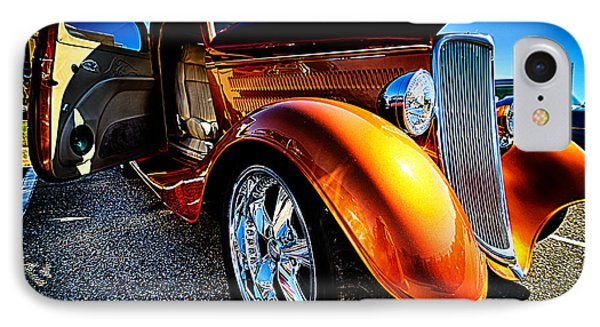 Gold Vintage Car At Car Show IPhone Case by Danny Hooks