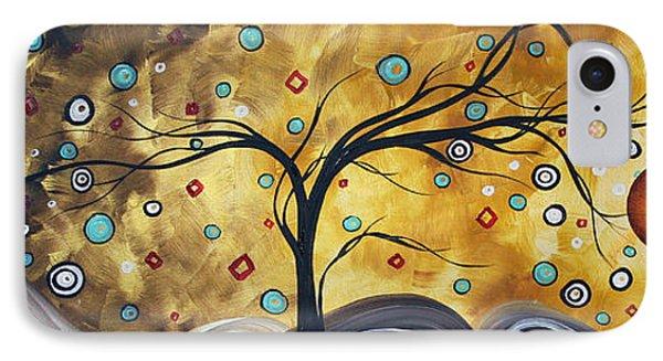 Golden Admiration By Madart Phone Case by Megan Duncanson