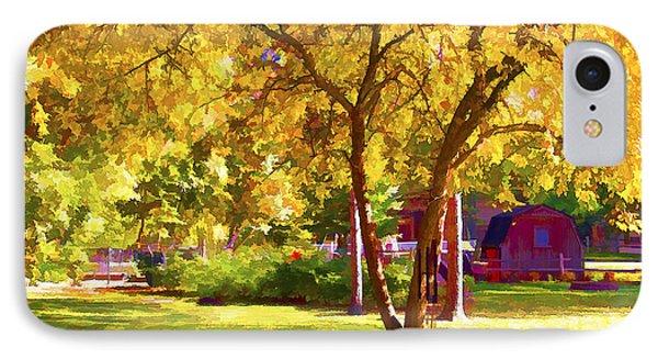 Golden Apple Tree IPhone Case by Susan Crossman Buscho