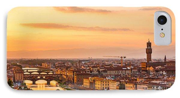Golden Arno River IPhone Case by Gurgen Bakhshetsyan