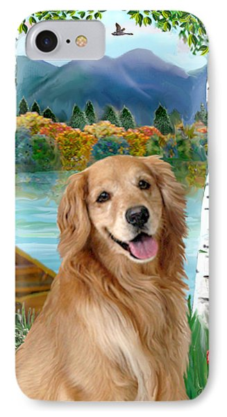 Golden At The Lake IPhone Case by Jean B Fitzgerald