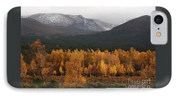 Golden Autumn - Cairngorm Mountains IPhone Case by Phil Banks