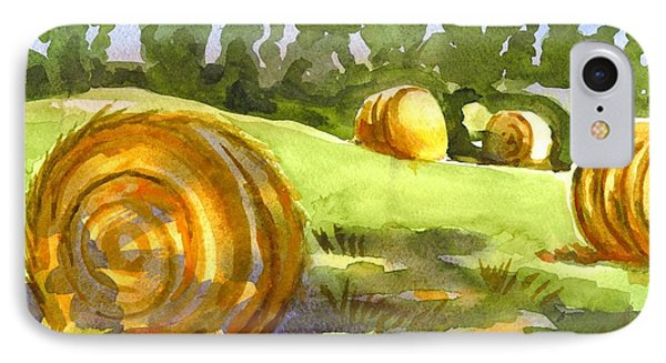 Golden Bales In The Morning Phone Case by Kip DeVore