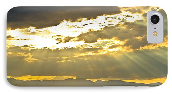 Golden Beams Of Sunlight Shining Down Phone Case by James BO  Insogna