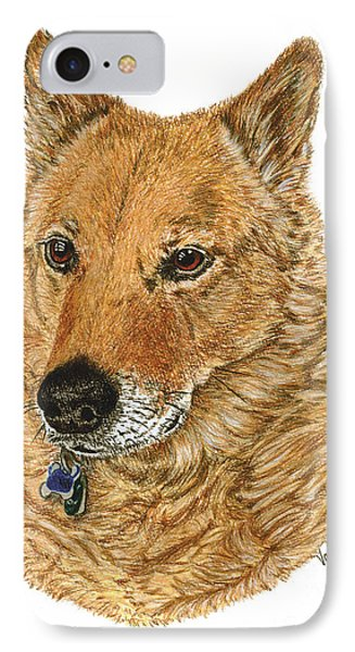 IPhone Case featuring the drawing Golden Beauty by Val Miller