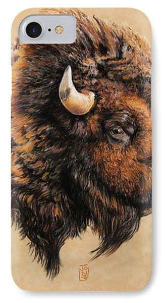 Golden Bison Phone Case by Debra Jones