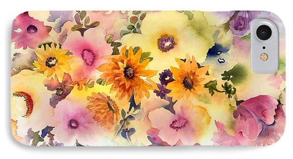 Golden Blossoms IPhone Case by Neela Pushparaj