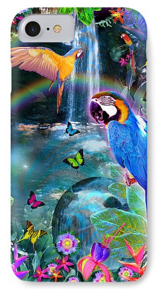 Golden Bluebirds Paradise Version 2 Phone Case by Alixandra Mullins