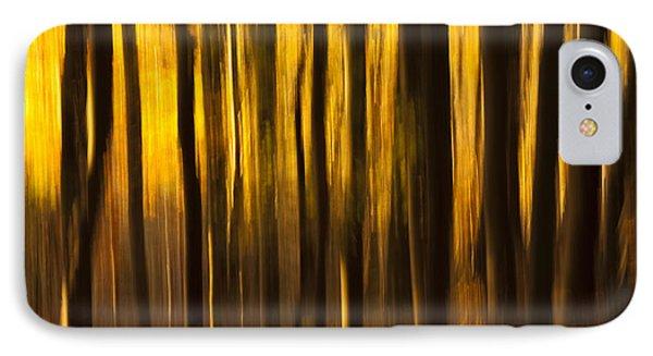 Golden Blur Phone Case by Anne Gilbert