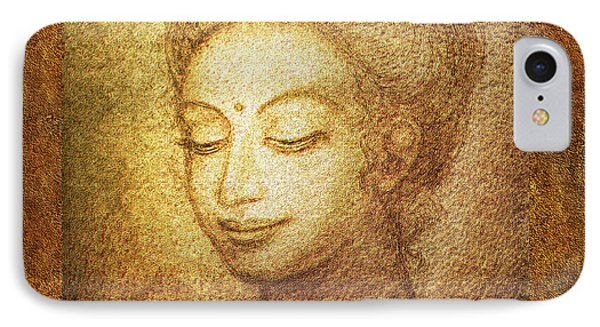 Golden Buddha IPhone Case by Ananda Vdovic