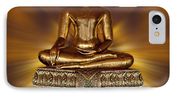 IPhone Case featuring the photograph Golden Buddha by Shirley Mangini