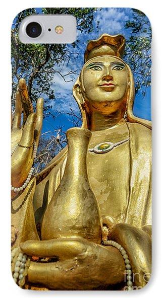 Golden Buddha Statue IPhone Case by Adrian Evans