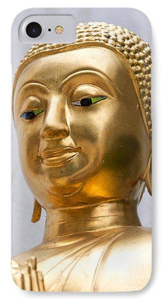 Golden Buddha Statue IPhone Case by Antony McAulay