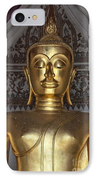 Golden Buddha Temple Statue IPhone Case by Antony McAulay