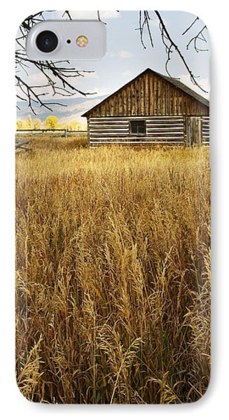 IPhone Case featuring the photograph Golden Cabin by Sonya Lang
