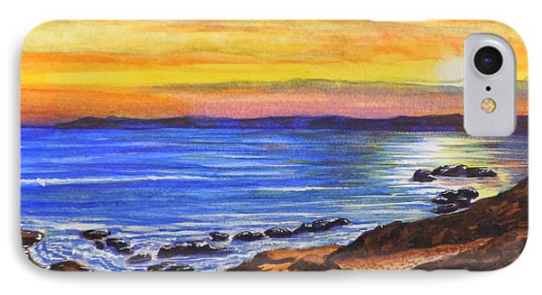 IPhone Case featuring the painting Golden Cove by Darren Robinson