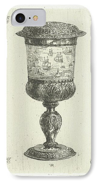 Golden Cup With Lid, Donated To Michiel De Ruyter IPhone Case by Litz Collection
