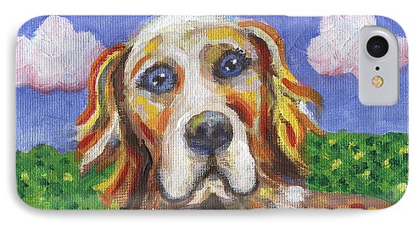 Golden Dog Phone Case by Linda Mears