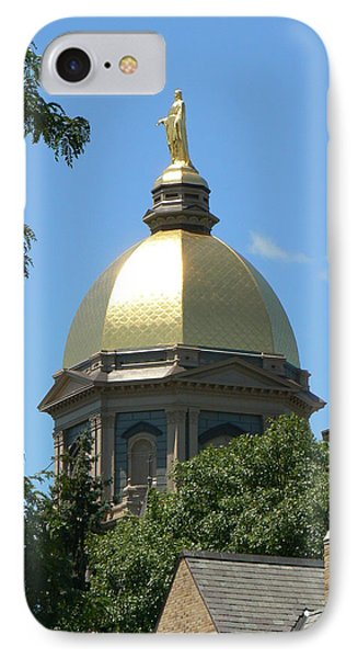 Golden Dome Notre Dame Phone Case by Connie Dye