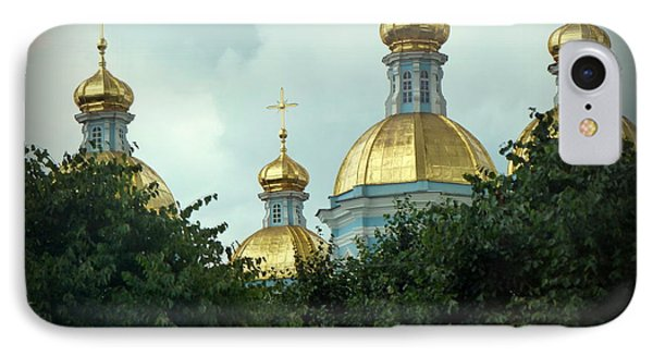 Golden Domes IPhone Case by John Potts