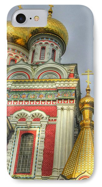 Golden Domes Of Russian Church Phone Case by Eti Reid