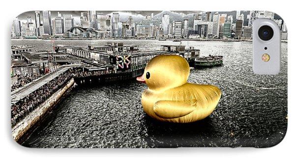 Golden Duck In Victoria Harbor IPhone Case