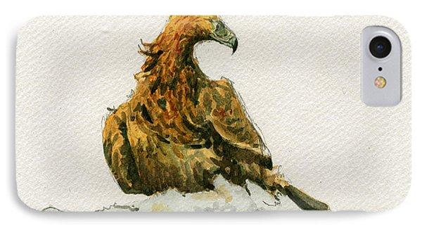 Golden Eagle Aquila Chrysaetos IPhone Case by Juan  Bosco
