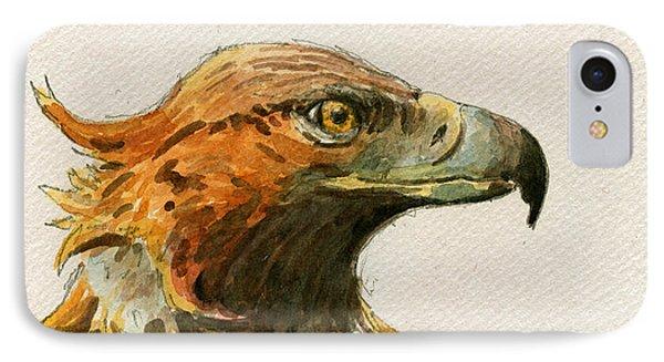 Golden Eagle IPhone Case by Juan  Bosco