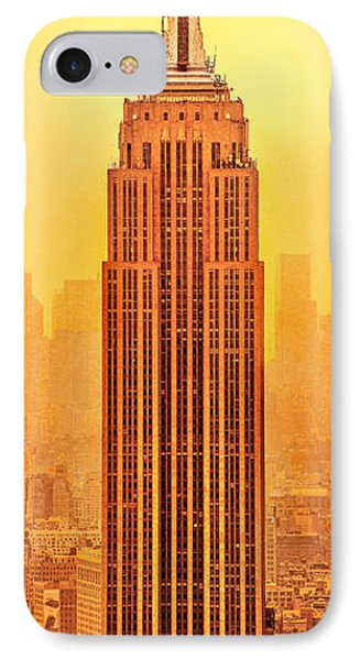 Golden Empire State IPhone Case by Az Jackson