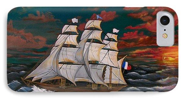 Golden Era Of Sail IPhone Case by Sharon Duguay
