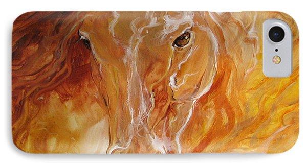 Golden Essence Equine IPhone Case by Marcia Baldwin