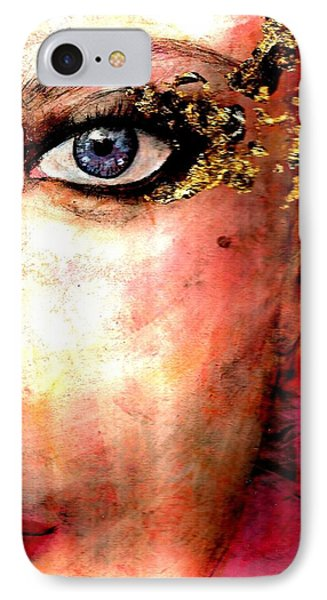 Golden Eyes IPhone Case by P J Lewis