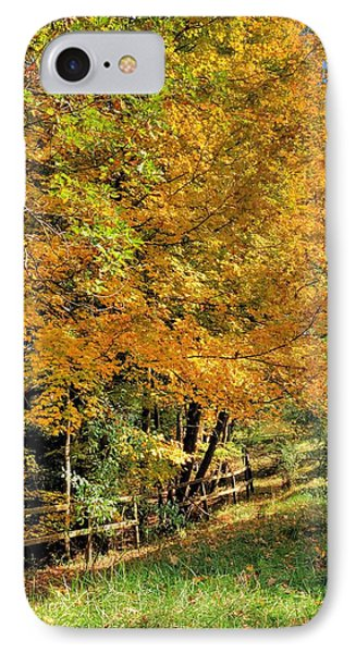 IPhone Case featuring the photograph Golden Fenceline by Gordon Elwell