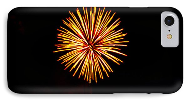 Golden Fireworks Flower Phone Case by Robert Bales