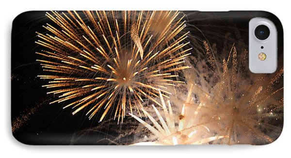 IPhone Case featuring the photograph Golden Fireworks by Rowana Ray
