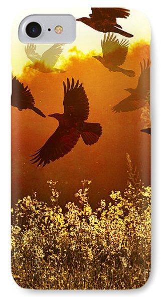 Golden Flight IPhone Case by Judy Wood