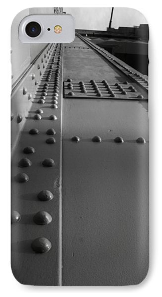 Golden Gate  Abstract IPhone Case by Aidan Moran