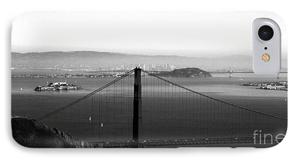 Golden Gate And Bay Bridges IPhone Case by Linda Woods